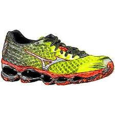 Mizuno Wave Prophecy 4 - Men's Running Shoes (Lime Punch/BK/Fiesta Width:Medium)