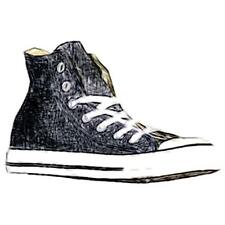 Converse All Star Hi - Men's Basketball Shoes (Black/White Width:Medium)