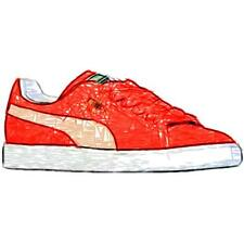 PUMA Suede Classic - Men's Basketball Shoes (High Risk Red/White Width:Medium)