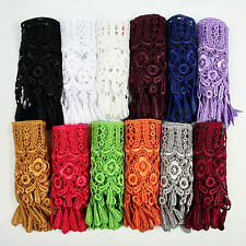 """Unotrim 4"""" White Black Ivory Gray Gold Lilac Burgundy Venice Lace Trim by yard"""