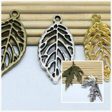 Free shipping 2/10 PCS antique silver filigree maple leaf charm pendant