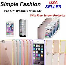 Apple iPhone 6 / 6 Plus Case hard TPU Cover Skin Silicone/Gel Glossy Matte Plain