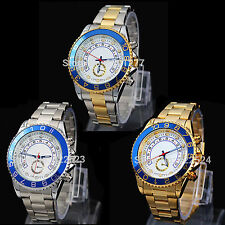 Men's Luxury Wrist Watch Stainless steel Auto Date Multi-function LED