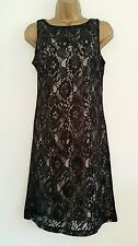 NEW BHS Evening Black Lace Sequin Embellished Shift Dress Party Occasion 8-22