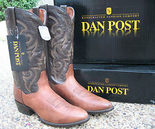 NEW Mens Dan Post Gabe Chocolate Tan Mignon Leather Western Cowboy Boots DP2216