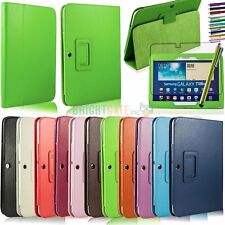 Samsung Galaxy Tab 3 10.1 Folding PU Leather Stand Smart Case Cover+Stylus+Film