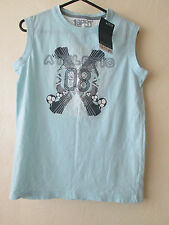 BOYS PALE BLUE TOP *NEW* WITH TAGS AGE 10/11