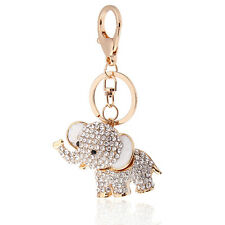 Crystal Lucky Elephant Key Ring or Bag Charm, Great Gift Ideas