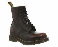 Womens Dr. Martens 8 Eyelet Lace Up Boots CHERRY RED ARCADIA Boots