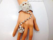 Crystal Paw Bling Diva Slave Bracelet Ring - 3 Colors