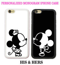 His & Hers PHONE CASES Couple Kissing 2 iPhone Cases - CUSTOM PERSONALIZED LOVE