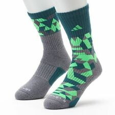 Adidas 2 Pairs/Pack Energy Camo Crew Socks Climalite Compression Pick Your Color