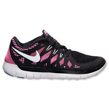 New Nike Youth Free Run 5 GS Shoes (644446-001)  Black/Metallic Silver/Pink Glow
