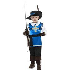 Boys Childs Musketeer Medieval Role Play Knight Fancy Dress Up Costume