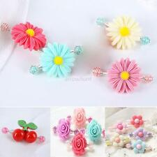 5 Styles Hair Clip Baby Girls Flowers Hairpin Daisy Spring Bobby Pin Barrette