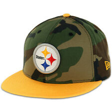 New Era Ballistacam Pittsburgh Steelers Hat (Camouflage/Yellow) 5950 Fitted Cap
