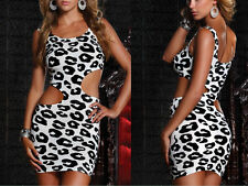 Hot Sexy Lingerie Nightclub Leopard Slim Evening Cocktail Party Clubwear Dress