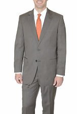Renoir Semi Solid Brown Tic Weave Two Button Suit