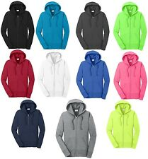 LADIES COTTON/POLY, ZIP UP, CLASSIC HOODIE, CORE WEIGHT, NEON TOO! XS-3XL 4XL