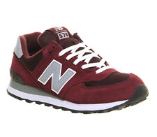 Mens New Balance M574 MAROON GREY Trainers Shoes