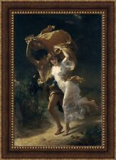 """Pierre Auguste Cot The Storm Framed Canvas Giclee Print 27""""x38"""" (V07-31)"""