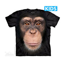 THE MOUNTAIN CHIMP FACE MONKEY ANIMAL DOMESTICATED YOUTH KIDS TEE T SHIRT S-XL
