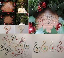 VINTAGE STYLE METAL STRONG GOLD CHRISTMAS TREE ORNAMENT HANGERS HOOKS