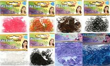 500 SMALL ELASTIC HAIR BANDS IN 2 PACKETS (250/PACK) : CHOOSE COLOURS : GB-098