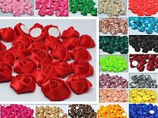 Satin Ribbon Flower Appliques/craft/Wedding~Craft/Trim 10/50/100PCS 25mm ~
