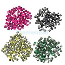 100pcs Punk Rock Pyramid Studs Spots Spikes for DIY Bag Craft Leathercraft Gift