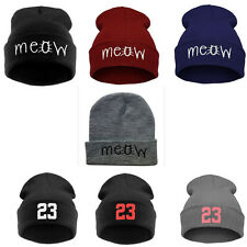 Hip Hop men's women's meow 23 Beanies Winter warm cap unisex knit wool Hats