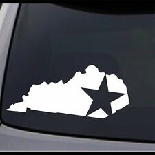 (2x) Kentucky State Map KY Home State Star Vinyl Decal Sticker