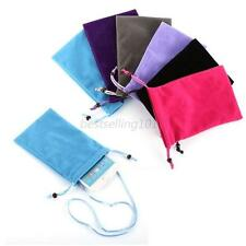 Universal mobile phone Sleeve Pouch Case Bag Purse+Strap For Smart Phone