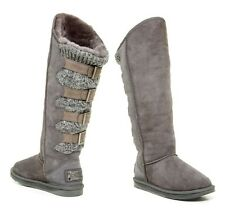 Australia Luxe Collective Women's Sparta Knit Shearling X Tall Boots Shoes Grey