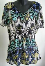 NWOT Ladies Plus Size 22 20 18 16 Millers Printed Double Layer Top