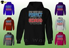 Hooded Sweatshirt - Not Only Am I Perfect I'm A Redhead Too ! - HOODIE ( XT )
