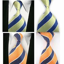 Classic Striped JACQUARD WOVEN 100%Silk Mens Necktie Party Formal Neck Ties DD09