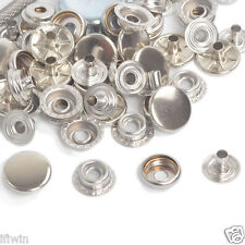 15/50/100 Silver 17/15/12.5mm Poppers Snap Fasteners Sewing Leather Press Studs