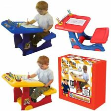 CHILDRENS KIDS CREATIVE ART COLOURING DRAWING PAINTING CRAFT DESK STOOL TABLE
