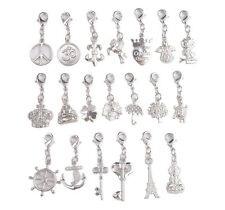 20PCS Silver Tone Mixed Clip On Charms Fit Chain Bracelet #91830