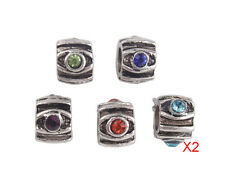 10PCS Mixed Colors Rhinestone Charm Beads Fit European Bracelet #91855