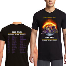 BLACK SABBATH THE END 2016 TOUR DATES HEAVY METAL BLACK T SHIRT SIZE S-3XL AV