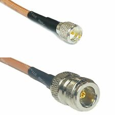 RG400 N FEMALE to MINI UHF MALE Coaxial RF Pigtail Cable USA