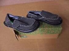 Sanuk Boys Vegabond Black Slip On Sandals SB1061T