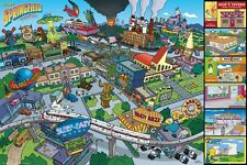 The Simpsons Springfield Locations Poster 91.5x61cm