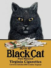 New Black Cat Cigarettes Metal Tin Sign
