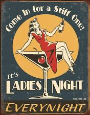 New Ladies Night Retro Humour Metal Tin Sign
