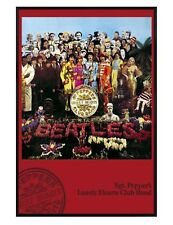 The Beatles Gloss Black Framed Sgt Peppers Lonely Hearts Club Poster 61x91.5cm