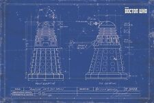 New Doctor Who Dalek Blueprint Poster