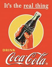 New Coca Cola Its The Real Thing Coke Metal Tin Sign